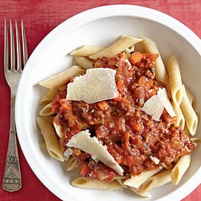 Vegetarian Bolognese with Whole-Wheat Penne
