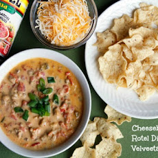 Cheeseburger Rotel Dip with Velveeta Cheese Sauce