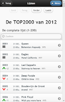 Screenshot of Top 2000 Database