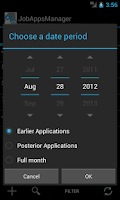 Screenshot of JobAppManager Beta