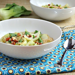 Ginger Soy Israeli Couscous with Baby Bok Choy