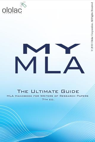 My MLA Guide