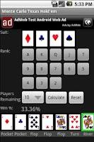 Screenshot of Monte Carlo Texas Hold'em