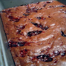 Fudgy Raspberry Swirl Bars