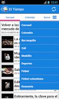 Screenshot of Colombia Noticias