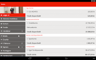Screenshot of ICA Banken