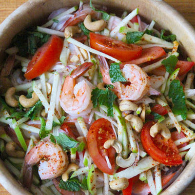 Spicy Shrimp and Green Apple Salad