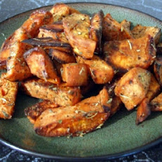 Spicy Roasted Sweet Potatoes With Orange & Honey