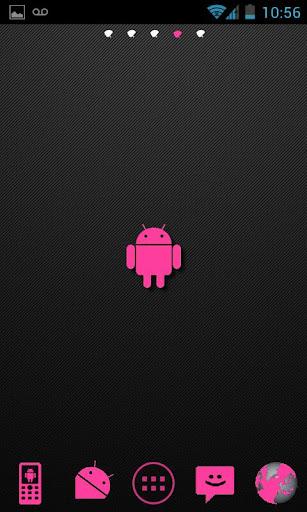 Pink Carbon Theme Go Launcher