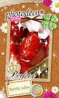 Screenshot of photodeco+Let's decorate photo