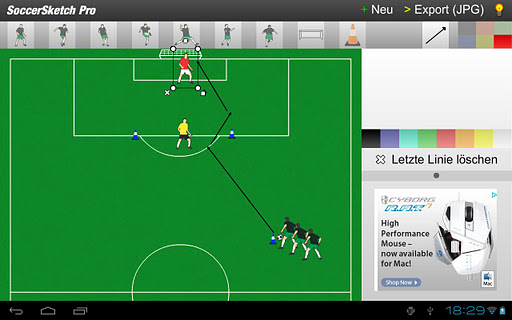 Screenshot #2 of SoccerSketch / Android