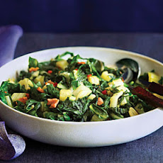 Sautéed Swiss Chard with Pancetta