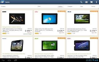 Screenshot of Newegg for Tablet