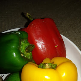 Colourful Capsicum by Shahed Arefeen - Food & Drink Fruits & Vegetables ( food and drink, capsicum, fruits and vegetables )