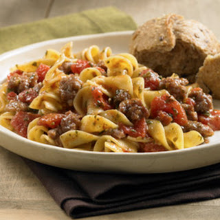 Sausage, Tomato and Noodle Toss