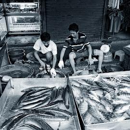 Klongthoey Market by Matthäus Rojek - City,  Street & Park  Street Scenes ( bangkok, klongthoey market )