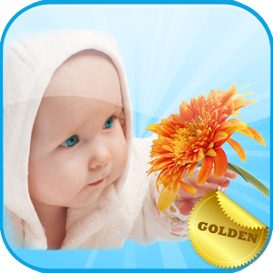 English Baby Cards Golden