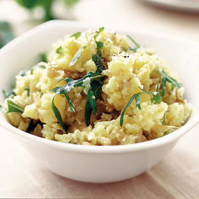 Crushed Potatoes With Rocket & Lemon