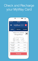 Screenshot of MyBus 2.0 Canberra