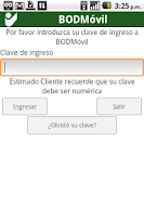 Screenshot of BODMovil