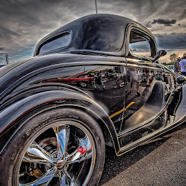 Black Coupe by Ron Meyers - Transportation Automobiles