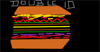 Hamburger Drawing 3: Double Cheeseburger