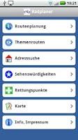 Screenshot of Radroutenplaner Hessen mobil