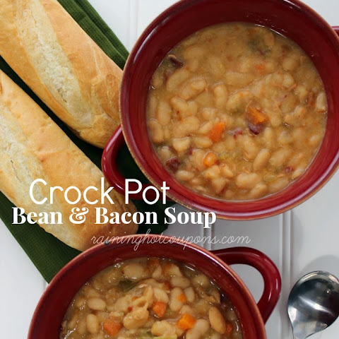Crock Pot Bean & Bacon Soup