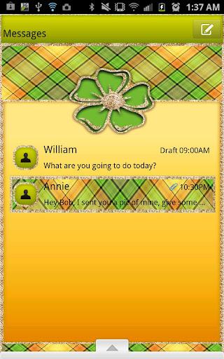 GO SMS - Bright Plaid Flower