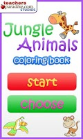Screenshot of Jungle Animals Coloring Book