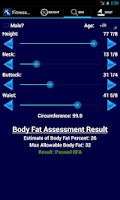 Screenshot of US Coast Guard Fitness Calc