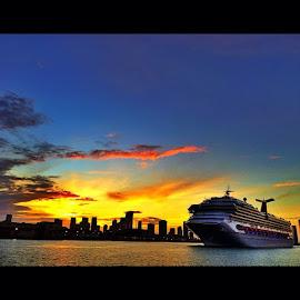 Sunset Cruise!!!! by Nicolas Donadio - Transportation Boats