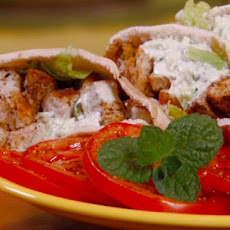 Turkey Souvlaki with Garlic-Yogurt Sauce