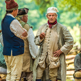 Revolutionary Meeting by Mike Watts - News & Events US Events ( revolution war, historic brattonsville, people )
