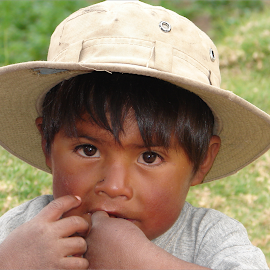 Jungle Juan by Lew Davis - Babies & Children Toddlers ( bolivian child, person, male, children, kids, youth, lew davis, people, bolivian boy, portrait, kid, child, jungle, boys, bolivian, bolivia, boy )