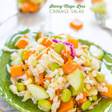 Skinny Mayo-Less Cabbage Salad