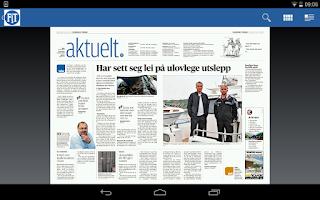 Screenshot of Fjordenes Tidende eAvis