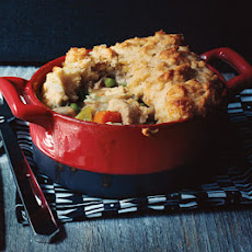 Turkey Potpie with Cheddar Biscuit Crust