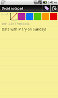 Screenshot of Droid notepad (Ad-Free)