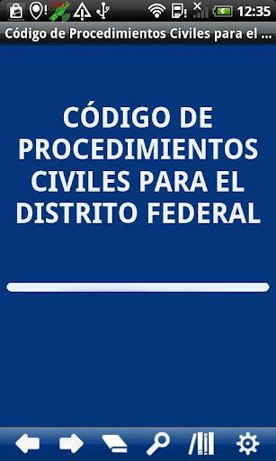 Civil P. Code Distrito Federal