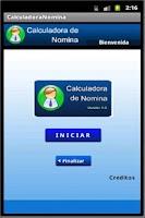 Screenshot of Calculadora de Nomina