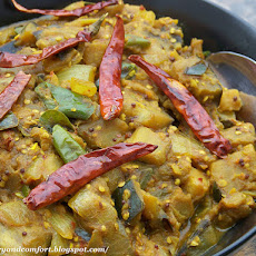 Indian-Thai Fusion Eggplant Curry