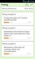 Screenshot of Mensa Nordhausen
