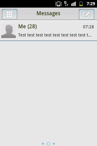 GO SMS PRO Themのテーマ - ブラックホワイト