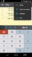 Screenshot of CalcTape Free Tape Calculator