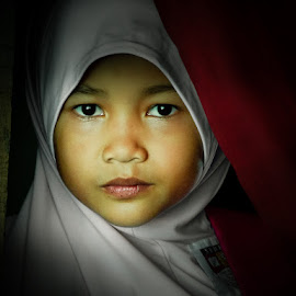 Hidden Girl by Izhar  Hj.Ishak - Babies & Children Child Portraits