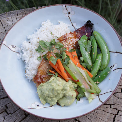 Trout Kabayaki with Avocado