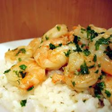Garlic Prawns With Linguine