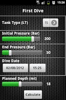 Screenshot of Scuba Diving Calculator Pro