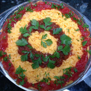 Layered Bean Dip with Fresh Cilantro
